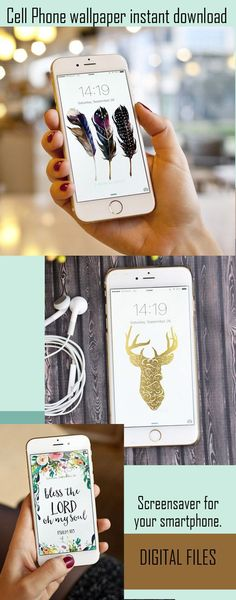 Cute cell phone wallpaper. Watercolors, scripture, personalized with florals. Take your pick and download to instantly update your phone. #instantdownload #cell #cellphonesaccessories #tech #ad