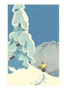 Skier, Graphics Prints at AllPosters.com