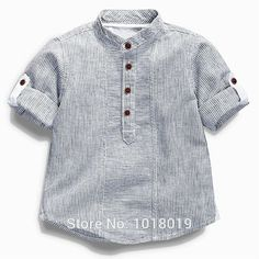 """Best 12 Department Name: Children Item Type: Tops Tops Type: Tees Collar: Mandarin Collar Gender: Boys Pattern Type: Striped Fit: Fits true to size, take your normal size Model Number: Style: """"European and American Style Material: Cotton Sleeve Length Baby Boy Dress, Baby Boy Outfits, Kids Outfits, Kids Clothes Storage, Cheap Kids Clothes, Baby Boy Shirts, Boys T Shirts, Baby Boys, Teen Boys"""