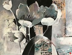 """Abstract Artists International: Contemporary Abstract Floral, Botanical Art Painting, 30 Day Challenge """"Love Notes"""" by Intuitive Artist Joan Fullerton Watercolor Pencil Art, Floral Watercolor, Abstract Landscape, Abstract Art, Abstract Flowers, Landscape Paintings, Landscapes, Mixed Media Painting, Painting Art"""