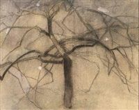 Träd by Helene Sofia Schjerfbeck Helene Schjerfbeck, Beautiful Drawings, Fine Art, Artist, Finland, Flower Power, Gardens, Leaves, Embroidery