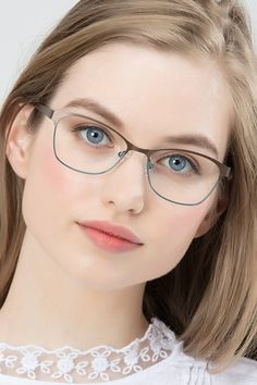 Sabrina Brown Blue Metal Eyeglasses from EyeBuyDirect. Come and discover these quality glasses at an affordable price. Find your style now with this frame.