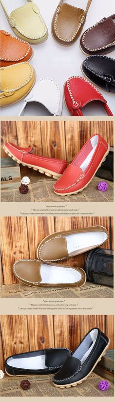 d79e53eb3e71b0 Casual Soft Sole Pure Color Slip On Flat Shoes Loafers is cheap and  comfortable. There are other cheap women flats and loafers online.