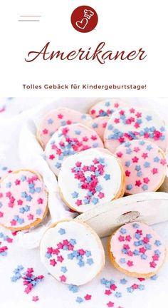 Amerikaner - kleine Kuchen mit Nostalgie-Faktor - #kindergeburtstagessenkita - Rezept für Amerikaner. Mini-Kuchen, die schnell gebacken sind. Ideal für Kinder-Geburtstage, Schulfeste oder den Kindergarten....