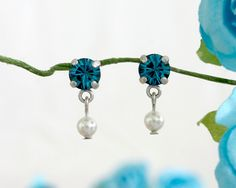 Small bridesmaid gift, Bridesmaid gift, Small gift, Small earrings, Something blue jewelry, Blue earrings, Blue jewlery, Something blue