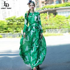 Women's Long Sleeve Casual Bohemian Vacation Party Print Floor Length Long Maxi Dress With Scarf