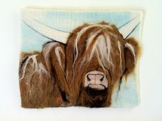 Hand Felted Highland Cow by Woolly Beasts on Folksy £65.00