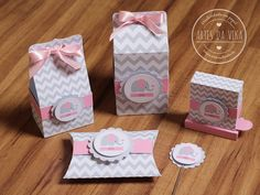 Kit Chá de Bebê - Elefantinho Chevron Elephant Party, Elephant Baby Showers, Pink Elephant, Candy Wedding Favors, Baby Favors, Baby Girl Shower Themes, Baby Shower Fun, Daisy Duck Party, Lemon Party