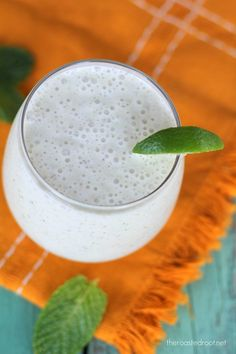 Mojito Smoothie | healthy and refreshing for summer time! | http://www.theroastedroot.net