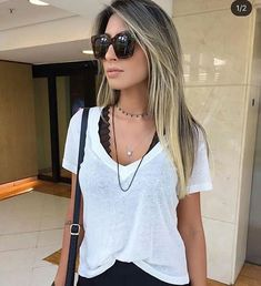 Best how to wear shirt summer Ideas Casual Chic Sommer, Casual Chic Style, Casual Street Style, Cute Fall Outfits, Chic Outfits, Fashion Outfits, Spring Outfits, Outfits Pantalon Verde, Autumn Fashion Grunge