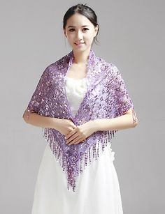 Nice Sequins Wedding/Evening Wraps/Shawls (More Colors) - USD $ 19.59