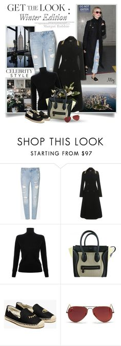 """""""Winter Edition : Margot Robbie"""" by thewondersoffashion ❤ liked on Polyvore featuring Zoe Karssen, Miu Miu, Victoria, Victoria Beckham, CÉLINE, Soludos and Ray-Ban"""