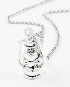 Antique Silver Tone / Lead&nickel Compliant / Metal / Lantern Pendant Necklace