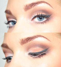 grey eyeliner White Eye Makeup, Simple Eye Makeup, Pretty Makeup, Love Makeup, Beauty Makeup, Beauty Tips, Edgy Makeup, Perfect Makeup, Beauty Ideas