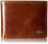 Fossil Men's RFID Blocking Ryan Bifold Wallet with Flip Id, Dark Brown, One Size