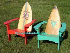 2 Surfboard Chairs fftc by Tropical Adirondack Chairs, via Flickr