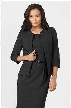 Audrey Jacket - Black Luxe Stretch Office Uniform, Jute Bags, Cold Shoulder Dress, Dresses For Work, Blouse, Jackets, Outfits, Black, Tops