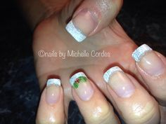 Acrylic with a holiday touch- Nails by Michelle Cordes