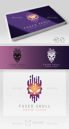 Fused Skull Logo - Symbols #Logo #Templates Download here:  https://graphicriver.net/item/fused-skull-logo/19562053?ref=alena994
