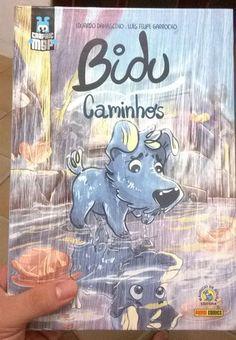 Autopresente: Bidu - Caminhos. É uma edição especial do quadrinho do Bidu da Turma da Mônica desenhado por artistas convidados. <3