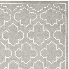 Dhurries Grey/Ivory Area Rug   Wayfair
