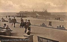 New Brighton 1913 Liverpool History, Liverpool Home, Local History, Family History, Brighton Rock, In Memory Of Dad, Documentary Photography, Old Photos, Seaside
