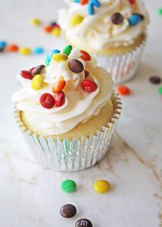 Mini M n' M Surprise Cupcakes: Ella and Annie Magazine