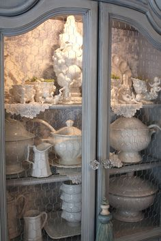 My Romantic Home: My Blue China Cabinet