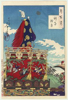 Dawn Moon of the Shinto Rites by Yoshitoshi (1839 - 1892)