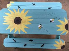 Picnic table makeover                                                                                                                                                                                 More
