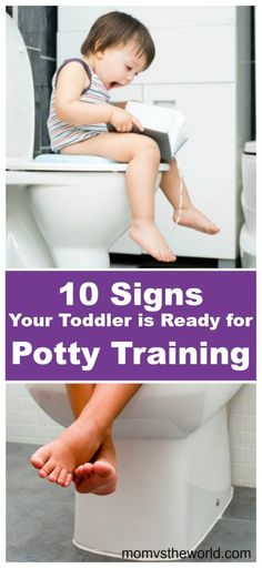 How do you know when your toddler is ready to start potty training? Learn about my personal potty training experience with my 18-month-old daughter, as well as the 10 signs that pushed me to give potty training a try. #pottytraining #toilettraining #biggirl #bigboy #18monthsold #toddlerlife #growingupfast #nomorediapers #parenting #parentingtips #parentingadvice #momvstheworld