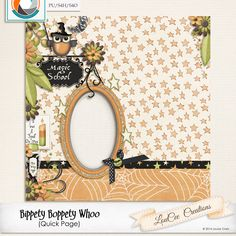 October 30 Daily Deal freebie coordinates with Bippety Boppety Whoo by LouCee Creations #freebie #thestudio #digitalscrapbooking #dailydeal #Halloween