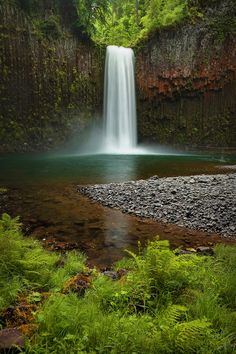 It is places like this that makes me want a waterfall shower. I love the idea of swimming around in this water. Just relaxing without a care in the world.  Abiqua Falls - Oregon