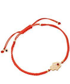 What about a friendship bracelet? - ASTLEY CLARKE RED HAMSA WOVEN FRIENDSHIP BRACELET £145.00