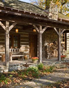 Porch CABIN Design Pictures Remodel Decor And Ideas