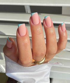 Nail Tip Designs, Acrylic Nail Designs, Art Designs, French Nail Designs, Short Nail Designs, Gorgeous Nails, Pretty Nails, Cute Gel Nails, Pink Nails
