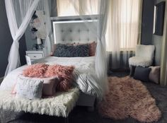Changing the color this week Bedroom Inspo Grey, Gray Bedroom, Toddler Bed, Bedrooms, Color, Furniture, Home Decor, Child Bed, Decoration Home