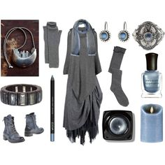 Moonlit Witch by maggiehemlock on Polyvore featuring Phase Eight, Lady Kiara, Georg Jensen, Toast, Cerruti 1881, Bobbi Brown Cosmetics, Deborah Lippmann and Boston Warehouse