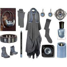 Moonlit Witch by maggiehemlock on Polyvore featuring Phase Eight, Lady Kiara, Georg Jensen, Toast, Cerruti 1881, Bobbi Brown Cosmetics, Deborah Lippmann and Boston Warehouse