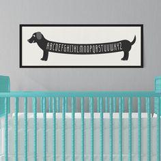 ABC Dachshund Art Print - The Project Nursery Shop - 2