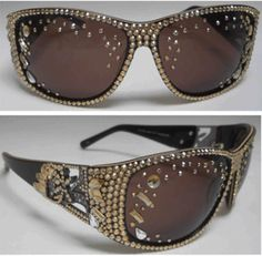 Jimmy Crystal GL925G Swarovski Crystal Designer Fashion Bling Sunglasses