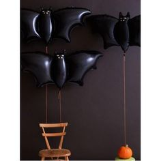 Halloween Cute Black Bat Foil Balloon Supershape LARGE Helium Fill Balloon