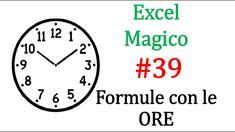 EM39 Come calcolare le ORE diurne e notturne in un turno  con excel Logitech, Pray