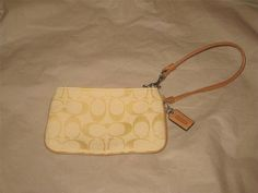 Coach Signature C Lemon Yellow Wristlet #Coach #TotesShoppers