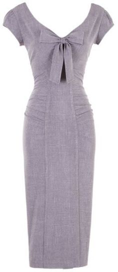 Stop Staring Bombshell PIPPA Charcoal Gray VLV Cheesecake Pencil Dress USA M & L