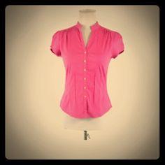 Express dark pink work top Worn a handful time but good condition. Express Tops