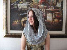 Chapel Veil EV1P - Eternity Veil Headcovering - The Infinity Scarf Man – Liturgical Time