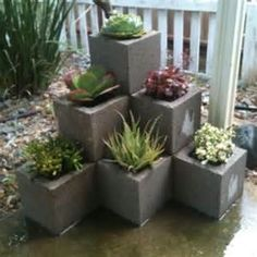 Cinder Block Succulent Garden like structure so instead may try with Saltillo ti. # - Cinder Block Succulent Garden like structure so instead may try with Saltillo ti… Source by Fadilavann -