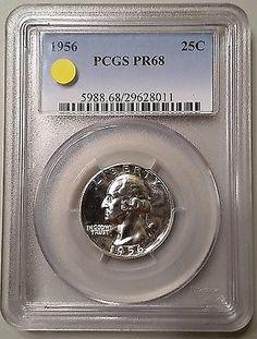 1956 Proof Washington Quarter PCGS PR68 Silver US Gem Coin