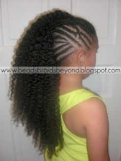 images of braided mohawks for little girls  | Beads, Braids and Beyond: Cornrowed Braid-out Faux Hawk